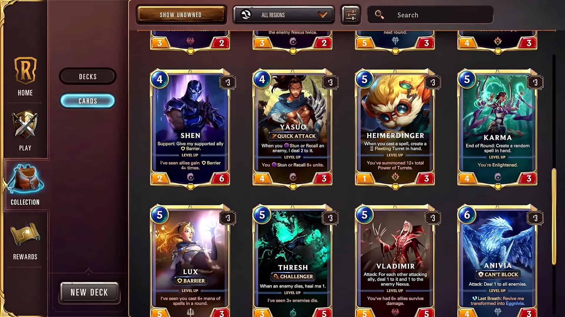 legends of runeterra savebutonu riot games