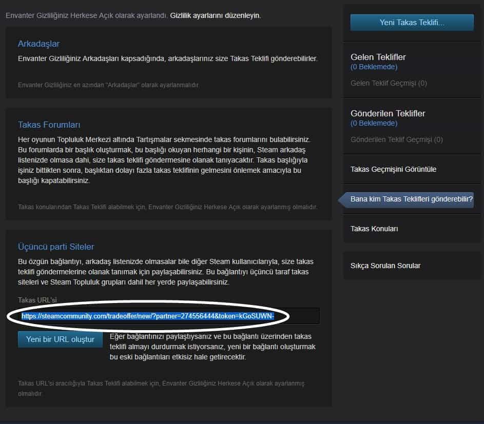 Steam Trade URL
