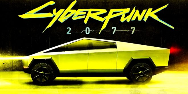 cybertruck cyberpunk 2077