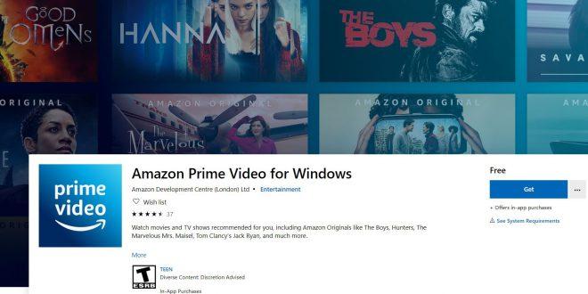 amazon prime windows 10