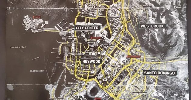 Night City haritası